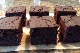 GF Dark Chocolate Brownies