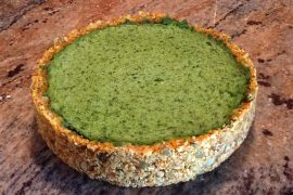 Spinach Cashew Pie Whole