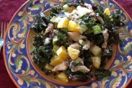 kale, chicken & fruit salad for 2
