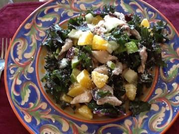 kale, chicken & fruit salad for 2