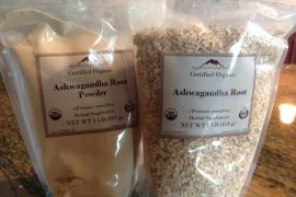 Ashwagandha powder and root