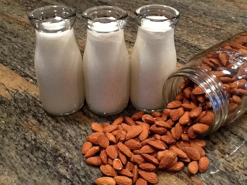 almond milk bottles