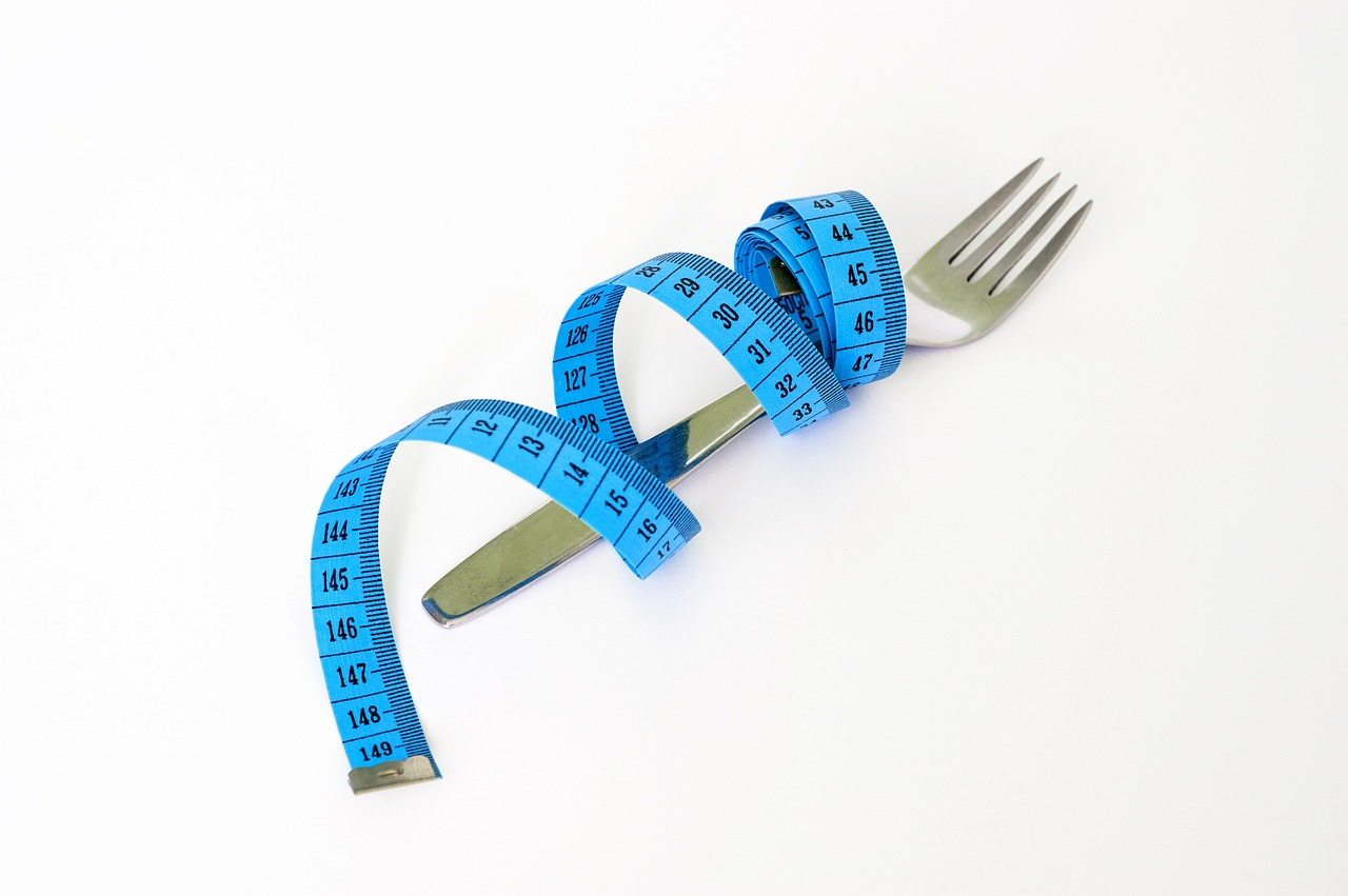fork measuring tape diet