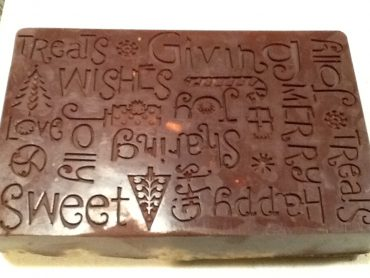happy holidays christmas candy mold