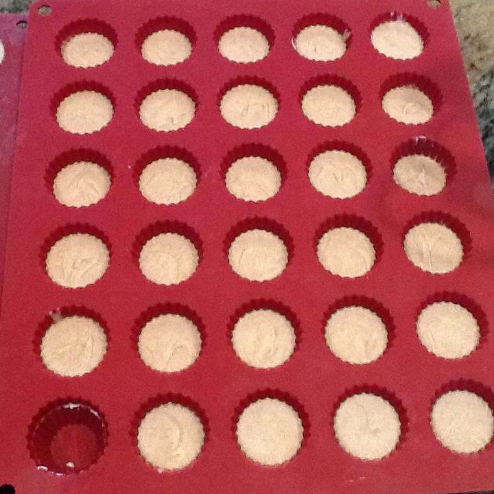 choc. spiced coconut cream in mold