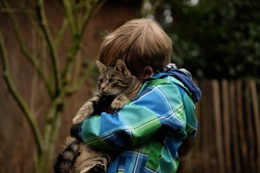 cat and child