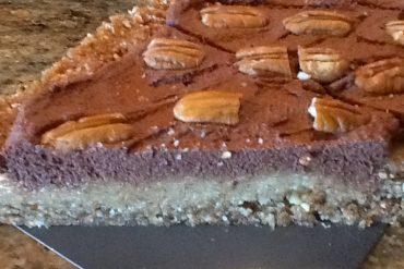 almond pecan tart slice